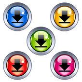 Descargar brillante botones — Vector de stock
