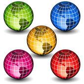 Glass globes — Stock Vector