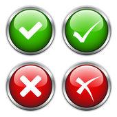 Check mark buttons — Stock Vector
