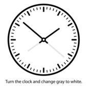 Horloge visage - facile changer temps — Vecteur