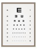 Snellen eye test chart — Stock Vector