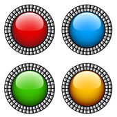 Vintage glossy buttons — Stock Vector