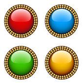 Botões brilhantes vintage — Vetor de Stock