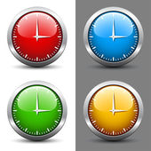 Clock faces — Vector de stock