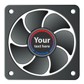 Computer fan — Stockvector