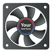 Computer fan — Vettoriale Stock