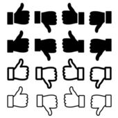 Thumbs up set — Stock Vector