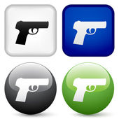 Gun buttons — Stock Vector