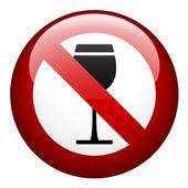 Ninguna marca de alcohol — Vector de stock