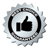 Best choice guaranteed label — Stock Vector