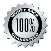 Money back guaranteed label — Stock Vector