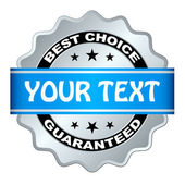 Best choice guaranteed label — Wektor stockowy