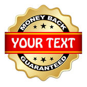 Money back guaranteed label — Wektor stockowy