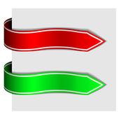 Arrow ribbon signs — Stock Vector