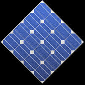 Photovoltaic panel — Stock Vector