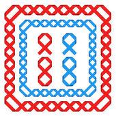 Ribbon frames — Stock Vector
