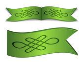 Rubans avec nœud celtique infini — Vecteur