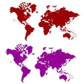 带区卷的世界地图 — 图库矢量图片