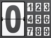 Nombre de panneau mécanique — Vecteur