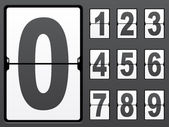 Number of mechanical panel — Vecteur