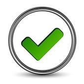 Positive checkmark — Stock Vector