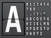 Alphabet of mechanical panel — Stock Vector