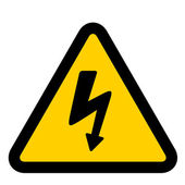 High voltage sign — Stock Vector