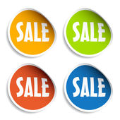 Sale sign stickers — Stock Vector