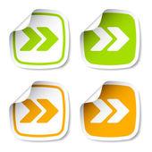 Arrow stickers — Vector de stock