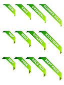 Promotional ribbons — Stock Vector
