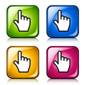 Smooth cursor hand buttons — Stock Vector