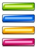 глянцевые кнопки — Cтоковый вектор