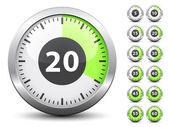 χρονόμετρο - εύκολη αλλαγή ώρα κάθε ένα λεπτό — Διανυσματικό Αρχείο