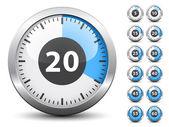 Zamanlayıcı - kolay değiştirmek zaman her bir dakika — Stok Vektör
