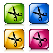 Scissors buttons — Stock Vector