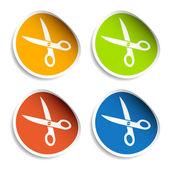 Scissors stickers — Vettoriale Stock