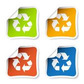 Riciclare adesivi — Vettoriale Stock