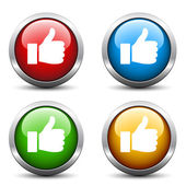 Thumb up buttons — Vettoriale Stock