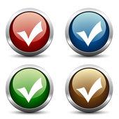 Positive checkmark buttons — Stock Vector