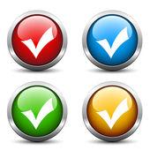 позитивные флажок кнопки — Cтоковый вектор
