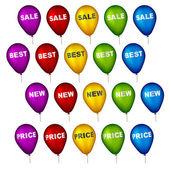 продажа участник воздушных шаров — Cтоковый вектор