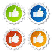 Thumb up stickers — Vecteur