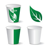 Eco paper cups — Stock Vector