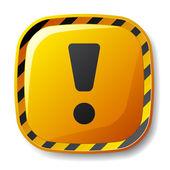 Under construction square button — Stock Vector