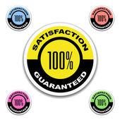 Satisfaction garantie autocollants — Vecteur