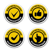 Satisfaction guaranteed stickers — Stock Vector