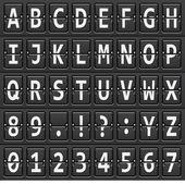 Alfabet van zwarte mechanische plaat — Stockvector