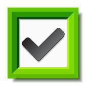 Green positive checkmark — Stock Vector