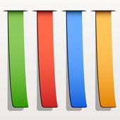 Colored ribbon stripes — Stock Vector