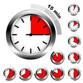 Eenvoudige timers — Stockvector